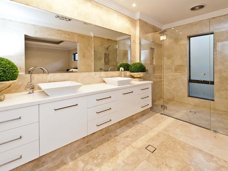 Travertine Ivory Floors & Walls